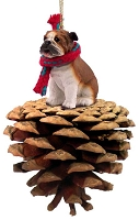 Bulldog Pinecone Pet Ornament