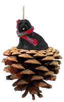 Lhasa Apso Black Pinecone Pet Ornament