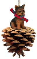 Yorkshire Terrier Puppy Cut Pinecone Pet Ornament