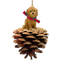 Goldendoodle Pinecone Pet Ornament