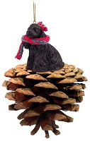 Cocker Spaniel Black Pinecone Pet Ornament