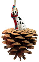 Great Dane Harlequin Pinecone Pet Ornament