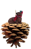Dachshund Red Pinecone Pet Ornament