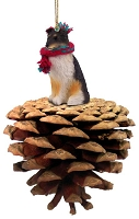 Sheltie Tricolor Pinecone Pet Ornament