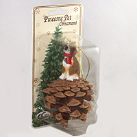 Ornament Pinecone Pets Dogs