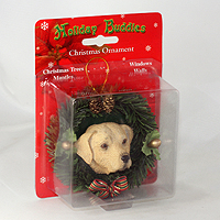 Ornament Holiday Wreath Dogs