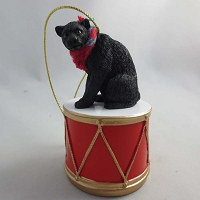 Panther Drum Ornament