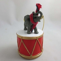 Elephant Drum Ornament