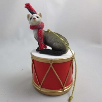 Ferret Drum Ornament