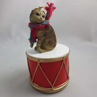 Scottish Fold Brown Tabby Drum Ornament