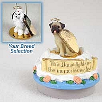 Candle Topper Angels Dogs