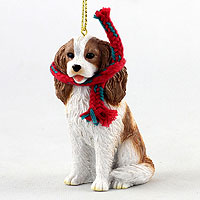 Cavalier King Charles Spaniel Brown & White Original Ornament, Large