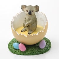 Koala Easter Egg Figurine