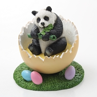 Panda Easter Egg Figurine