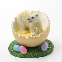 Bear Polar Easter Egg Figurine