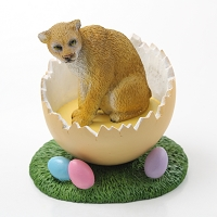 Cougar Easter Egg Figurine