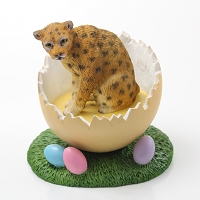 Leopard Easter Egg Figurine