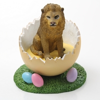 Lion Easter Egg Figurine