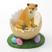 Lioness Easter Egg Figurine
