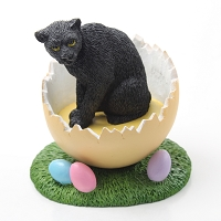 Panther Easter Egg Figurine