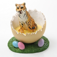 Tiger Easter Egg Figurine