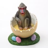 Mandrill Easter Egg Figurine