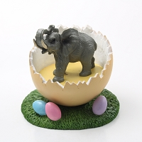 Elephant Easter Egg Figurine