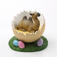 Camel Bactrian Easter Egg Figurine