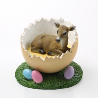 Deer Doe Easter Egg Figurine