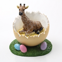 Giraffe Easter Egg Figurine