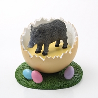 Razorback Hog Easter Egg Figurine