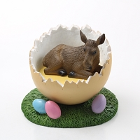 Moose Cow Easter Egg Figurine