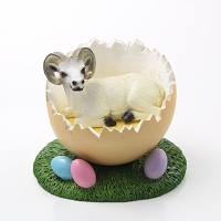 Dahl Sheep Easter Egg Figurine