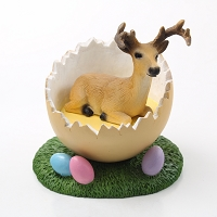 Deer Buck Easter Egg Figurine