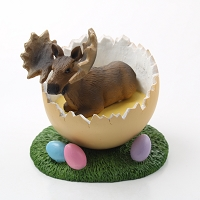 Moose Bull Easter Egg Figurine