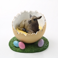 Elk Cow Easter Egg Figurine