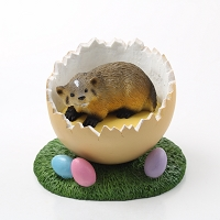 Badger Easter Egg Figurine