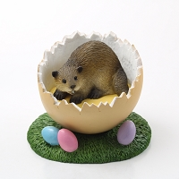 Beaver Easter Egg Figurine