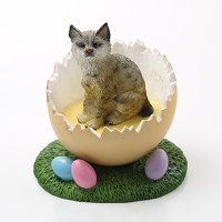 Bobcat Easter Egg Figurine