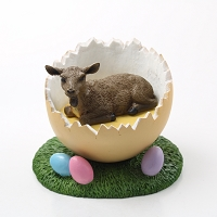 Goat Brown Easter Egg Figurine