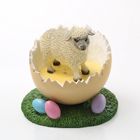 Sheep White Easter Egg Figurine
