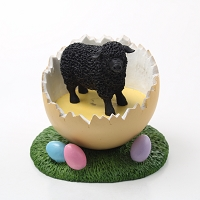 Sheep Black Easter Egg Figurine