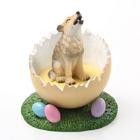 Wolf Timber Easter Egg Figurine