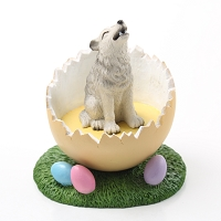Wolf Gray Easter Egg Figurine