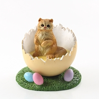Red Persian Easter Egg Figurine