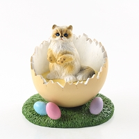 Ragdoll Easter Egg Figurine