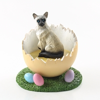 Siamese Easter Egg Figurine