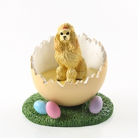 Poodle Apricot Easter Egg Figurine