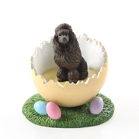 Poodle Chocolate Easter Egg Figurine