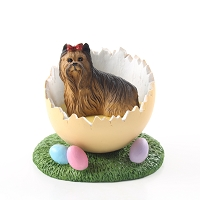 Yorkshire Terrier Easter Egg Figurine